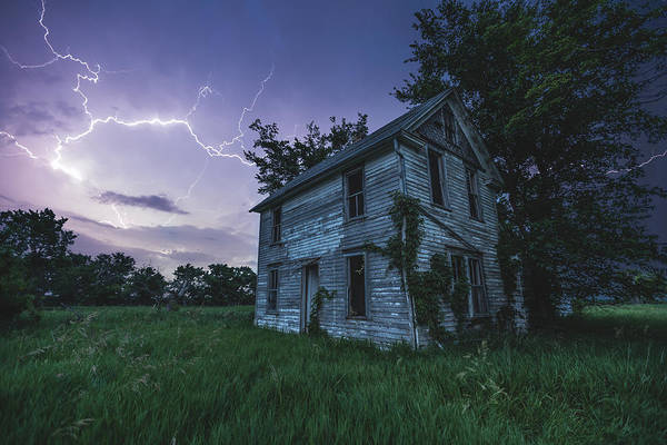 House Beautiful Photograph - A Dark And Stormy Place by Aaron J Groen
