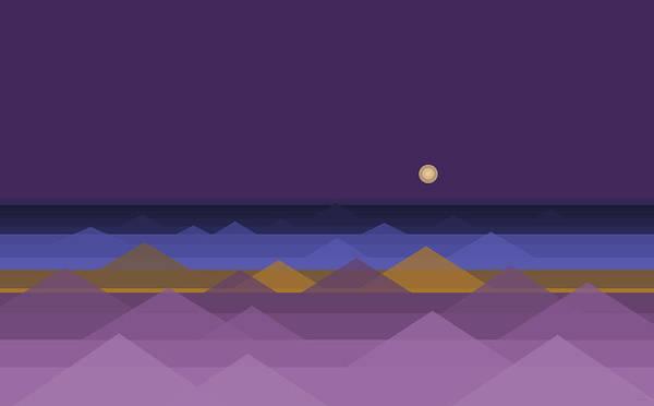 Digital Art - A Dark Purple Sky by Val Arie