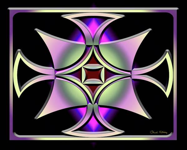 Digital Art - A Dark Splash Of Color 41 by Chuck Staley