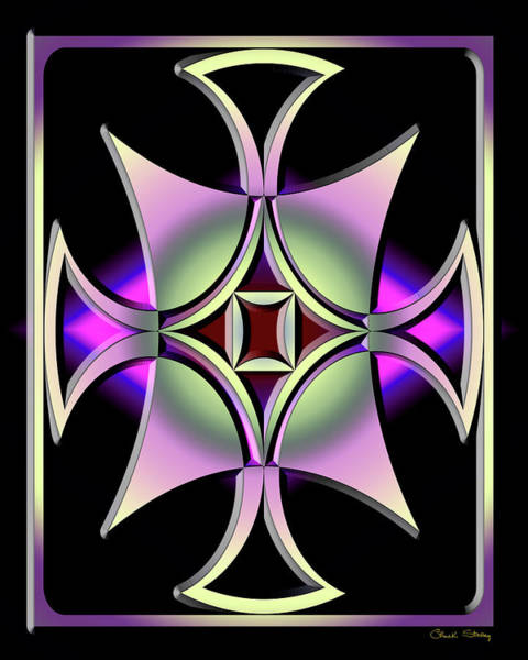 Digital Art - A Dark Splash Of Color 41 V by Chuck Staley