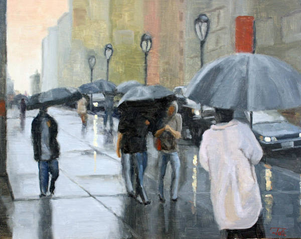 Wall Art - Painting - A Day For Umbrellas by Tate Hamilton