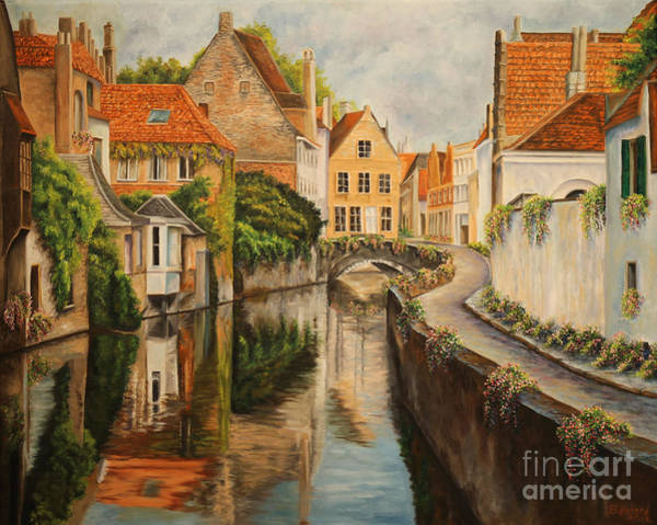 French Painter Painting - A Day In Brugge by Charlotte Blanchard