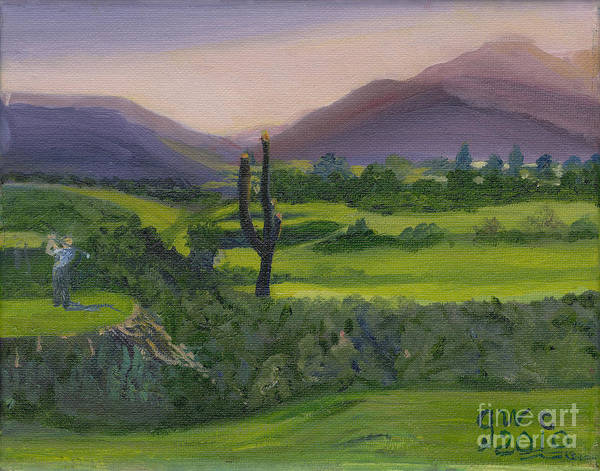 Wall Art - Painting - A Day On The Links by Gloria Condon