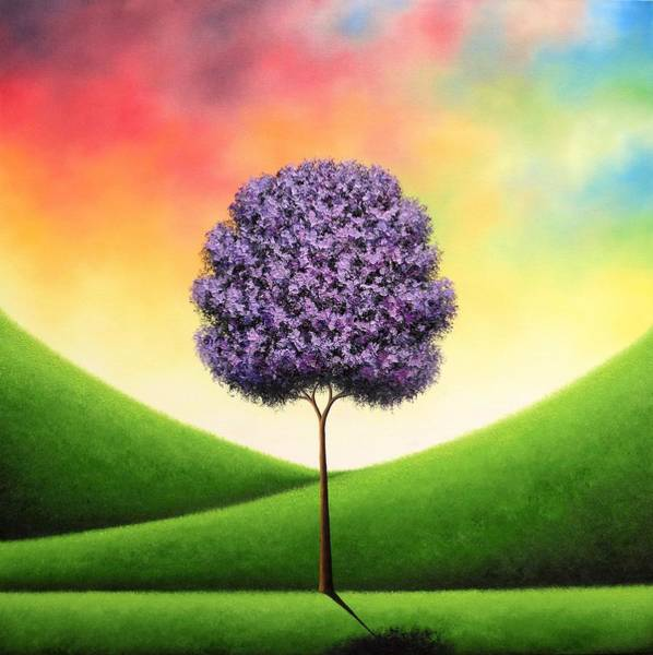 Blooming Tree Painting - A Day To Carry by Rachel Bingaman