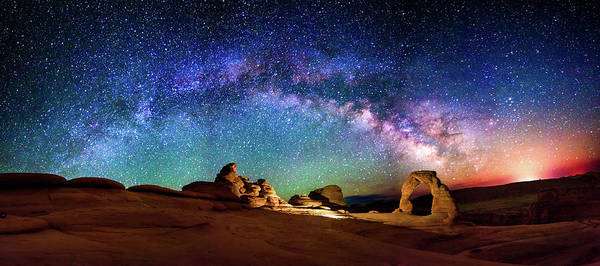Delicate Arch Wall Art - Photograph - A Delicate Night by Ryan Moyer