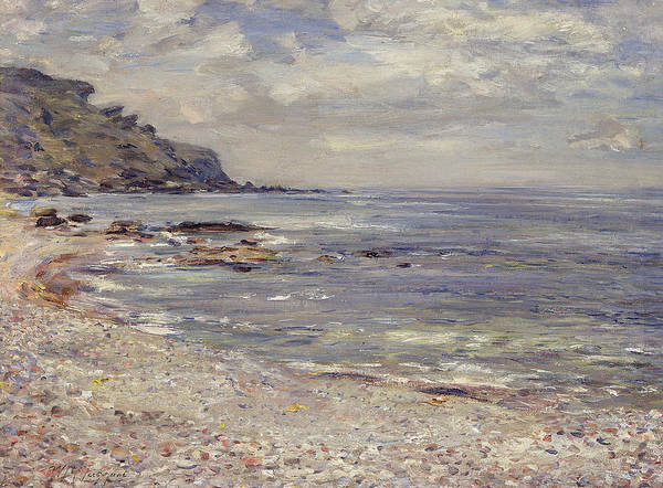 Pebble Painting - A Deserted Rocky Shore by William McTaggart