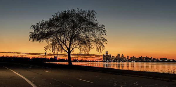 Belle Isle Photograph - A Detroit Sunset - The View From Belle Isle by Wes Iversen