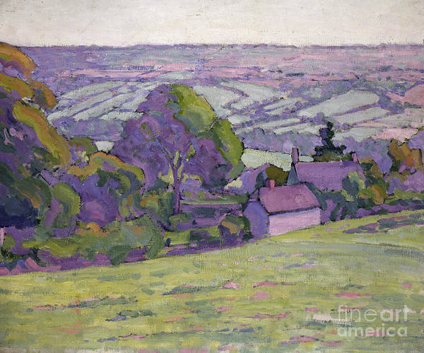 Wall Art - Painting - A Devonshire Valley, Number One by Robert Polhill Bevan