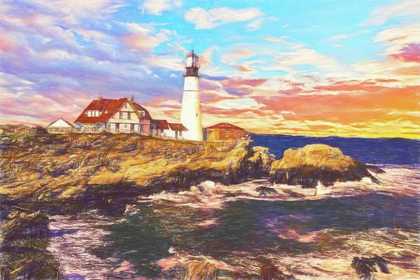Photograph - Portland Head Lighthouse by Rusty R Smith