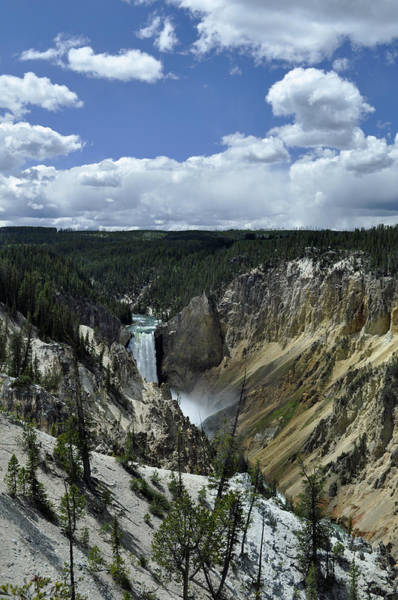 Photograph - A Distant Grand Canyon Of The Yellowstone by Bruce Gourley
