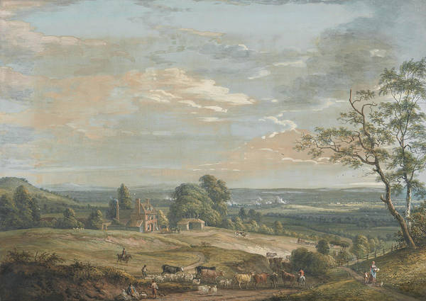 Distant Trees Wall Art - Painting - A Distant View Of Maidstone, From Lower Bell Inn, Boxley Hill by Paul Sandby