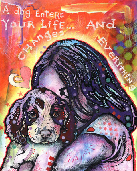 Changing Painting - A Dog Changes Everything by Dean Russo Art