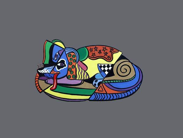 Picasso Painting - A Dog Named Picasso T-shirt by Anthony Falbo