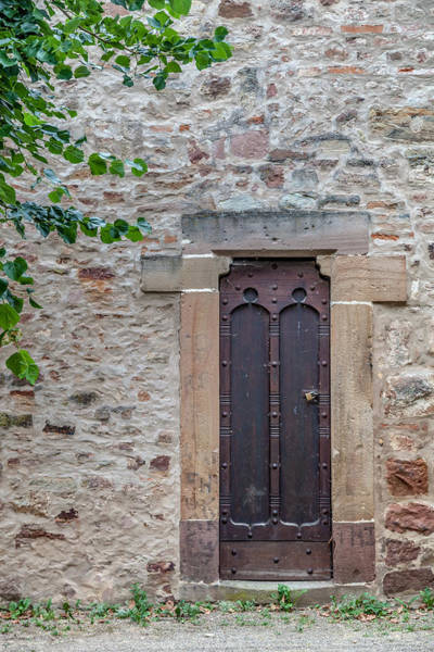 Maison Photograph - A Door In The Wall In Obernai by W Chris Fooshee
