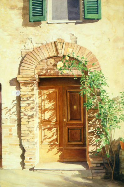 Painting - A Doorway In Tuscany by Bob Nolin