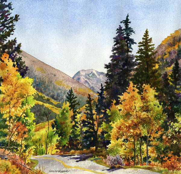 Wall Art - Painting - A Drive In The Mountains by Anne Gifford