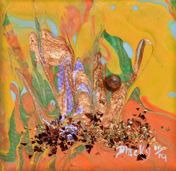 Wall Art - Painting - A Drop Of Golden Sun by Donna Blackhall