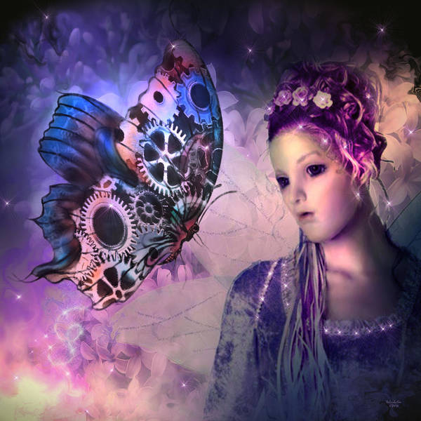 Digital Art - A Fairy Butterfly Kiss by Artful Oasis