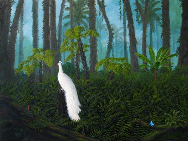 Wall Art - Painting - A Fantasy In White by Mark Junge