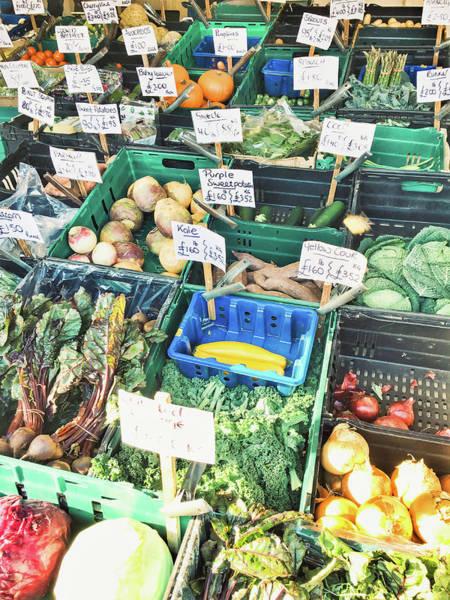 Kale Photograph - A Farmers' Market by Tom Gowanlock