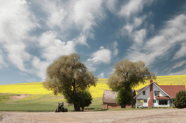 Photograph - A Farmhouse Against A Dramatic Sky. by Usha Peddamatham