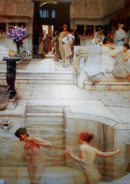 Greek Mixed Media - A Favorite Custom After Alma-tadema  by Michael Durst