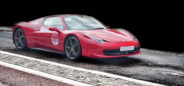 Auto Show Photograph - A Ferrari's Speed by Martin Newman