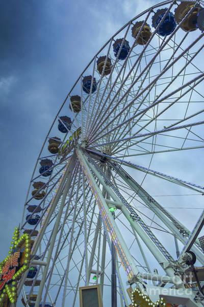 Photograph - A Ferris Wheel Befor A Storm by Marina Usmanskaya
