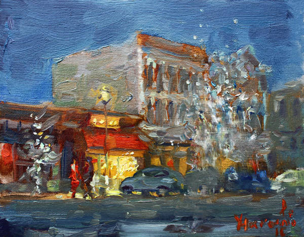 Tonawanda Wall Art - Painting - A Festive Atmosphere In Tonawanda by Ylli Haruni