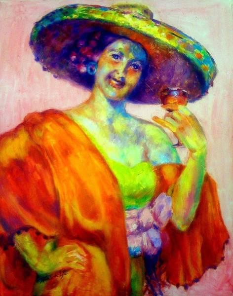Lyle Painting - A Festive Spirit by Patricia Lyle