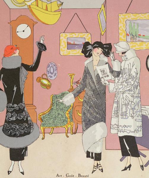 Fashion Plate Painting - A Few Pretty Novelties by Art Gout Beaute