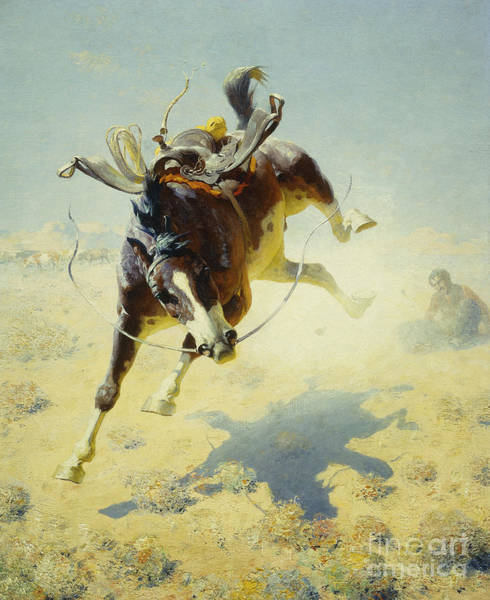 Untamed Wall Art - Painting - A Fighting Cyclone by William Robinson Leigh