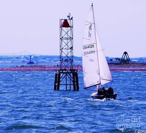 Wall Art - Photograph - A Fine Day For A Sail In Boston Harbor by Marcus Dagan