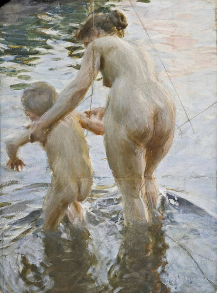 Impressionistic Drawing - A First by Anders Zorn