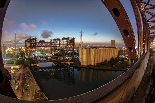 Photograph - a fisheye view from the Chicago Skyway Bridge by Sven Brogren
