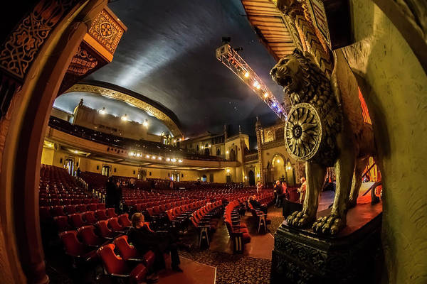 Photograph - A Fisheye View Inside Chicago's Regal Theatre by Sven Brogren
