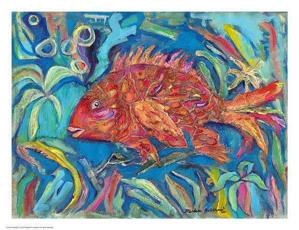 Painting - A Fishy Fantasia by Marlene Robbins