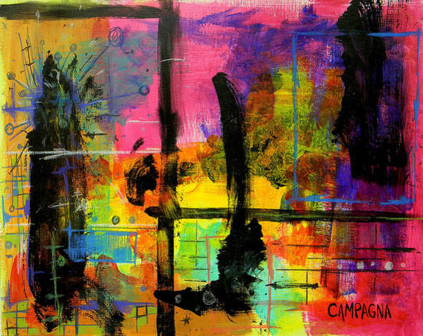 Acrylic Wall Art - Mixed Media - A Fleeting Thought by Teddy Campagna