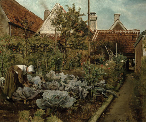 Allotment Wall Art - Painting - A Flemish Garden by Henri de Braekeleer