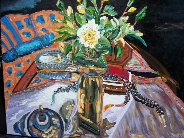 Painting - A Flower And A Vase by Ray Khalife