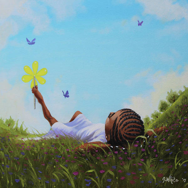 Braid Painting - A Flower In The Sky by Jerome White
