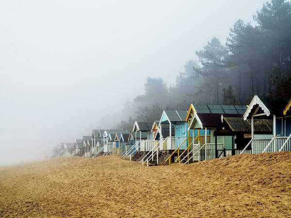 Photograph - A Foggy Beach by Nick Bywater