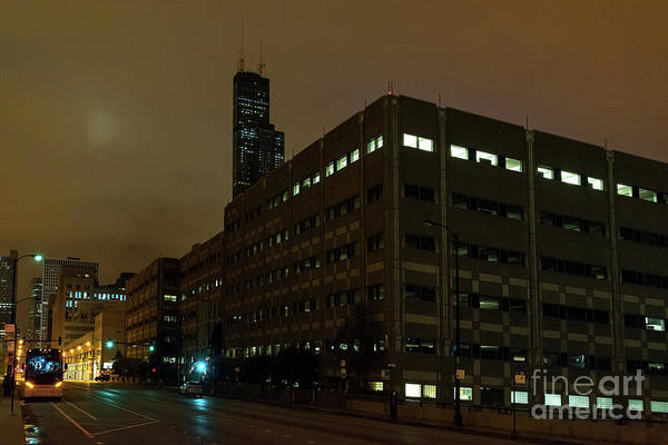 Haunted Wall Art - Photograph - A Foggy Chicago Night by Bruno Passigatti