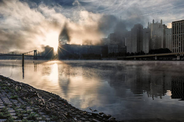 Wall Art - Photograph - A Foggy Morning In Pittsburgh by Lori Coleman