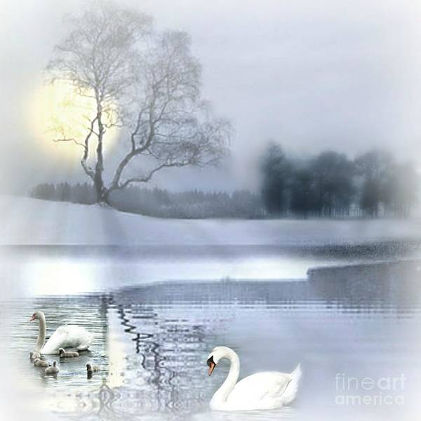 Mixed Media - A Foggy Winter's Morniing by Morag Bates
