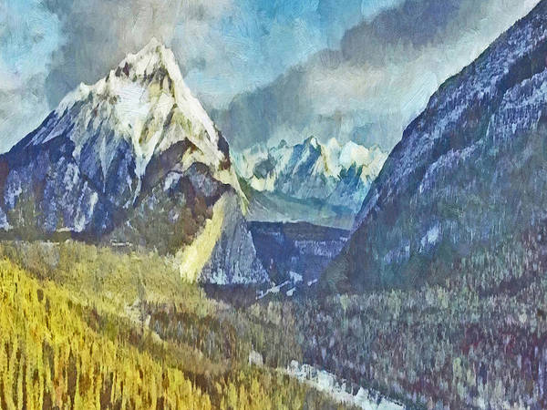 Digital Art - A Forested Valley In The Rocky Mountains by Digital Photographic Arts