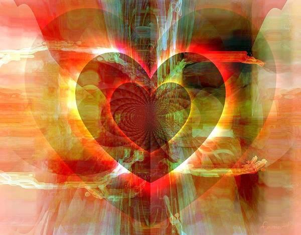 Wall Art - Digital Art - A Forgiving Heart by Fania Simon