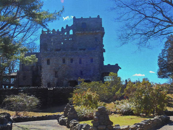 Photograph - A Front View Of Gillette Castle. A Connecticut State Park by Rusty R Smith