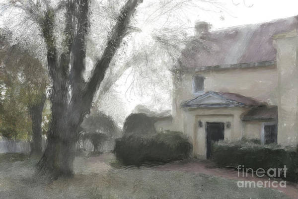 Wall Art - Digital Art - A Frosty Foggy Morning At The Manor House by Lois Bryan
