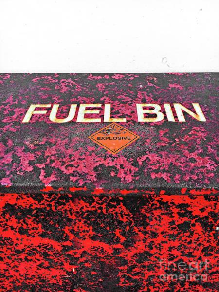 Wall Art - Photograph - A Fuel Bin by Tom Gowanlock